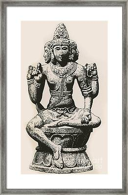Brahma, Hindu God Framed Print by Photo Researchers