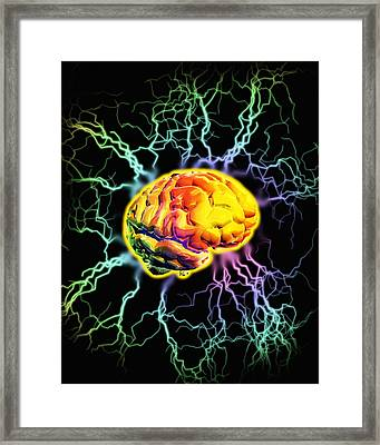 Brain Activity Framed Print by Victor Habbick Visions