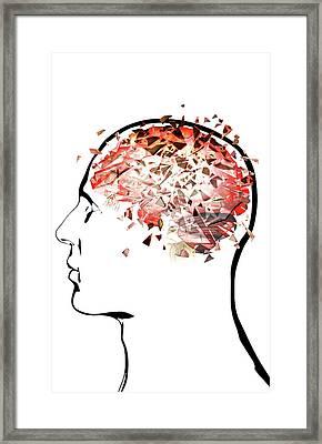 Brain Shattering Framed Print by MedicalRF.com