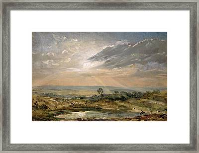 Branch Hill Pond Hampstead Framed Print by John Constable
