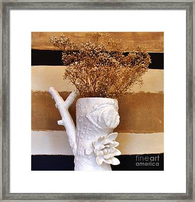 Branch Vase Framed Print by Marsha Heiken