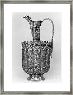 Brass Ewer, C1250 Framed Print by Granger