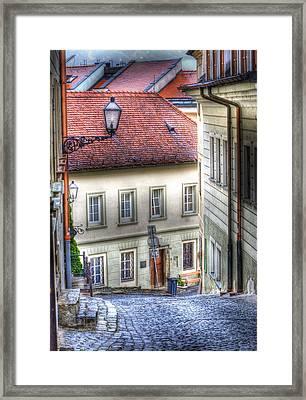 Bratislava. As The City Sleeps Framed Print by Juli Scalzi
