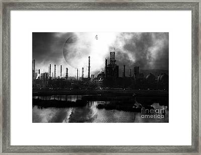 Brave New World - Version 2 - Black And White - 7d10358 Framed Print by Wingsdomain Art and Photography
