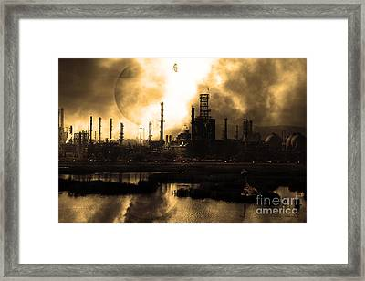 Brave New World - Version 2 - Sepia - 7d10358 Framed Print by Wingsdomain Art and Photography