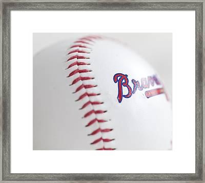 Braves Baseball Framed Print by Malania Hammer