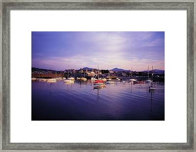 Bray Harbour, Co Wicklow, Ireland Framed Print by The Irish Image Collection