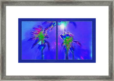 Brazilian Tropical Moonlight Diptych Framed Print by Steve Ohlsen