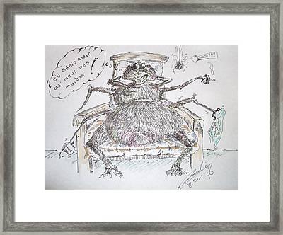 Brazilian Wandering Spider Framed Print by Paul Chestnutt