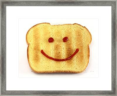 Bread With Happy Face Framed Print by Blink Images