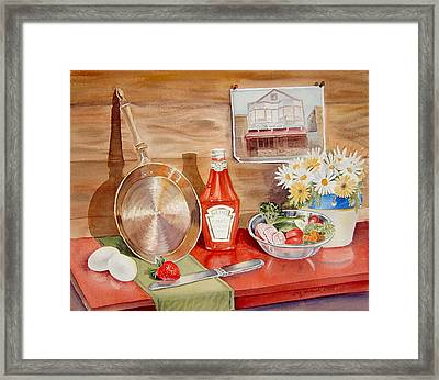Breakfast At Copper Skillet Framed Print by Irina Sztukowski