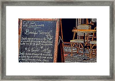 Breakfast In Paris Framed Print by Tony Grider