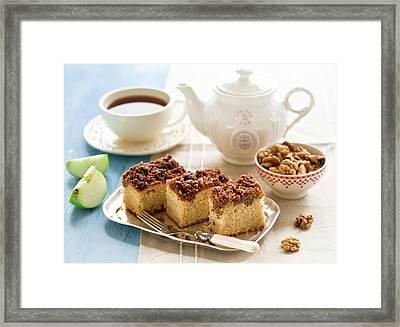 Breakfast With Nut Cake Framed Print by Verdina Anna