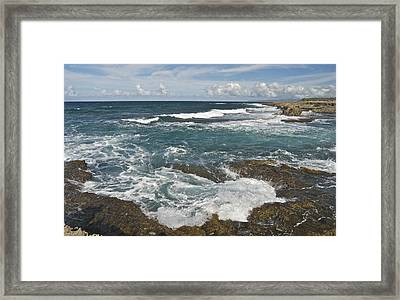Breaking Waves 7919 Framed Print by Michael Peychich