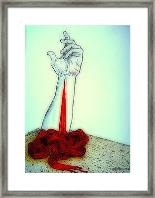 Breaks The Heaven With The Same Hand Breaks The Earth Framed Print by Paulo Zerbato