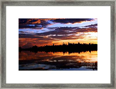 Breathtaking Sunset Framed Print by Luis and Paula Lopez