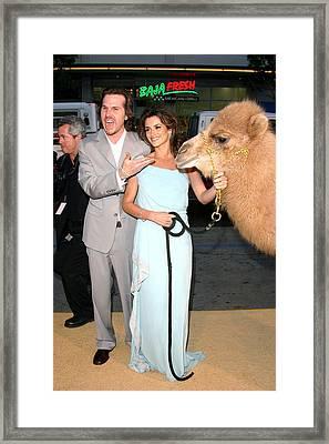 Breck Eisner, Penelope Cruz With Camel Framed Print by Everett