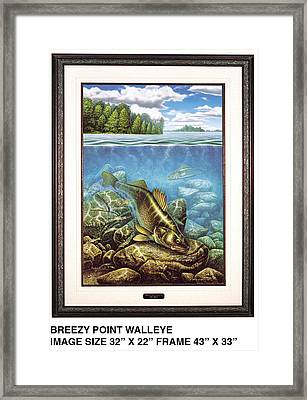 Breezy Point Walleye Framed Print by JQ Licensing