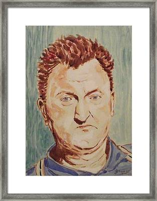Brendan Behan Framed Print by John  Nolan