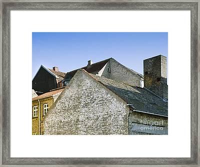 Brick Buildings In Denmark Framed Print by Noam Armonn