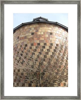 Brick Grain Bin Framed Print by Todd Sherlock