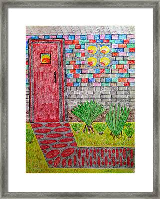 Brick House Framed Print by Robyn Louisell