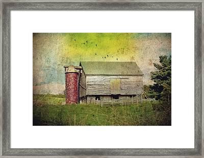 Brick Silo Framed Print by Kathy Jennings