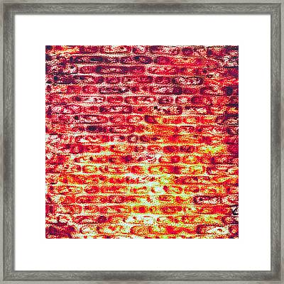 Brick Wall In Pencil Framed Print by Tom Gowanlock