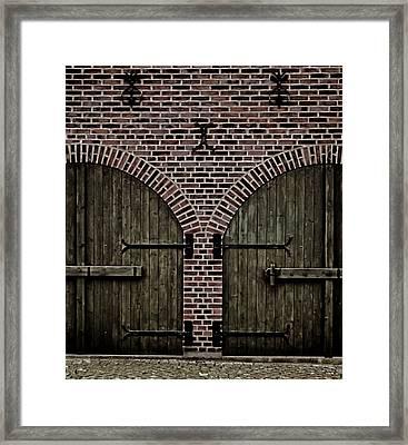 Brick Zipper Framed Print by Odd Jeppesen