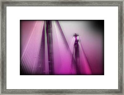 Bridge Cables One Framed Print by Marty Koch