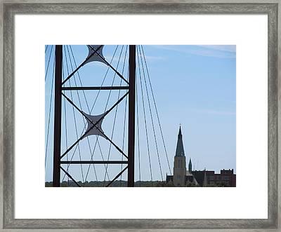 Bridge Fortress Framed Print by Tina M Wenger