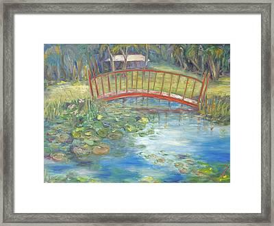 Bridge In Vero Beach Framed Print by Barbara Anna Knauf