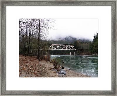 Bridge In Washington State Framed Print by Tanya  Searcy