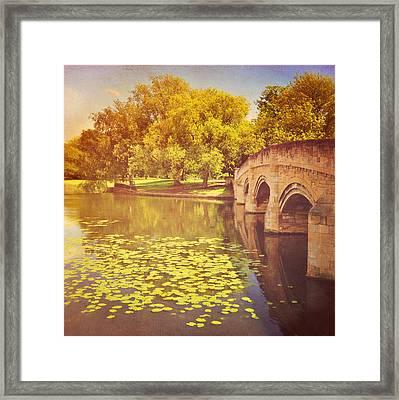 Bridge Over River Framed Print by Photo - Lyn Randle
