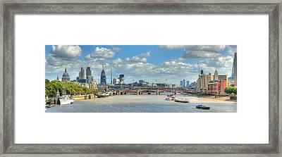 Bridge Over River Thames In London Framed Print by Richard Fairless