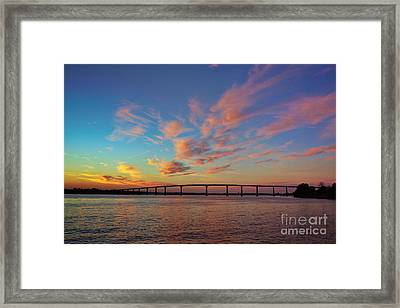 Bridge Over The Patuxent Framed Print by Susan Isakson