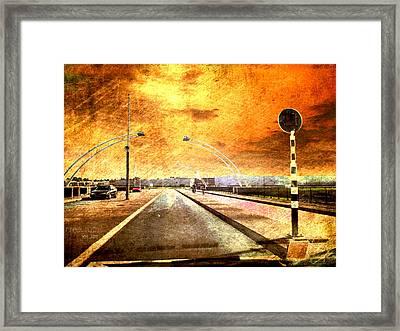 Bridge Over Troubled Water  Framed Print by Yvon van der Wijk