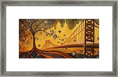 Bridge Framed Print by Sara Coolidge