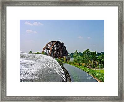 Bridge To The Past Framed Print by Joe Finney