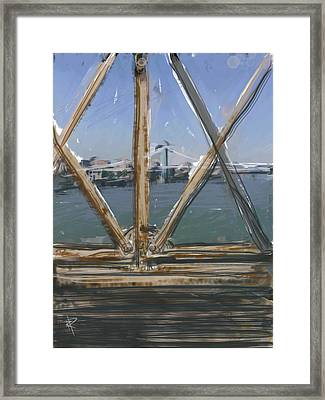 Bridge View Framed Print by Russell Pierce