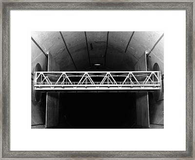 Bridge Wind Tunnel Test, 1954 Framed Print by National Physical Laboratory (c) Crown Copyright