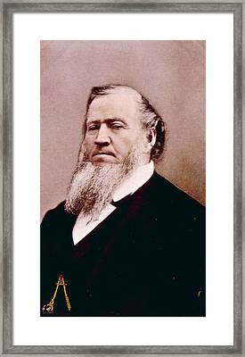 Brigham Young 1801-1877, Hand Colored Framed Print by Everett