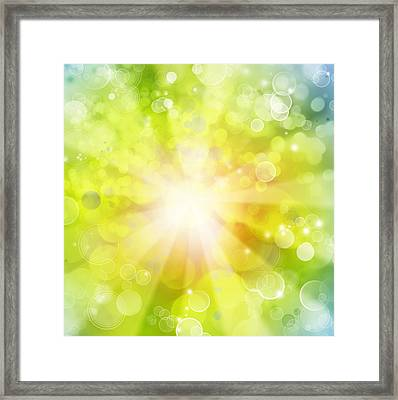 Bright Background Framed Print by Les Cunliffe