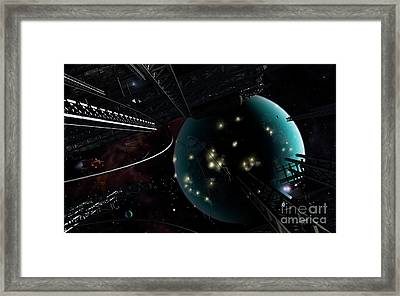 Bright Blisters Of Nuclear Energy Framed Print by Brian Christensen