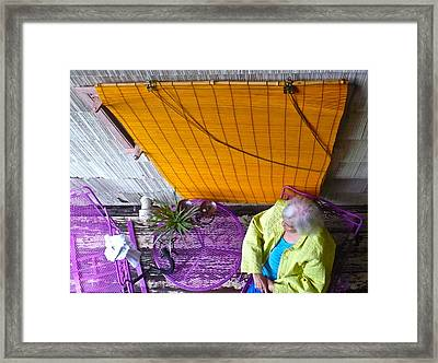 Bright Colored Morning Framed Print by Diana Ogaard