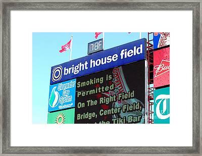 Bright House Field Framed Print by Carol Christopher