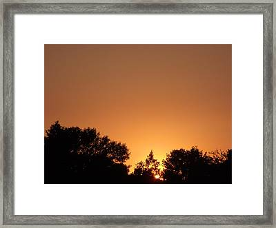 Bright Orange Sky Framed Print by Brian  Maloney