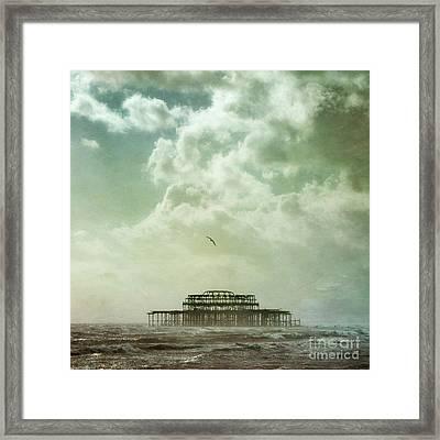 Brighton Seascape Framed Print by Paul Grand
