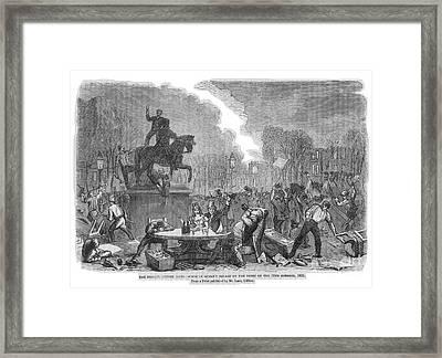 Bristol: Reform Riot, 1831 Framed Print by Granger