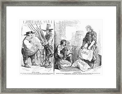 Britain And Civil War, 1862 Framed Print by Granger
